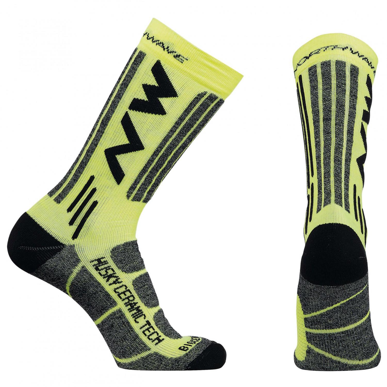 Northwave - Husky Ceramic Tech 2 Socks - Radsocken Black / Yellow Fluo