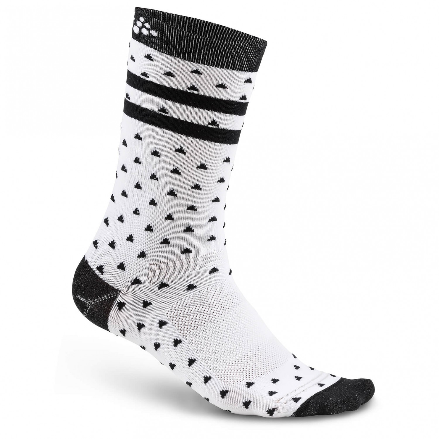 Craft - Pattern Sock - Radsocken White / Black
