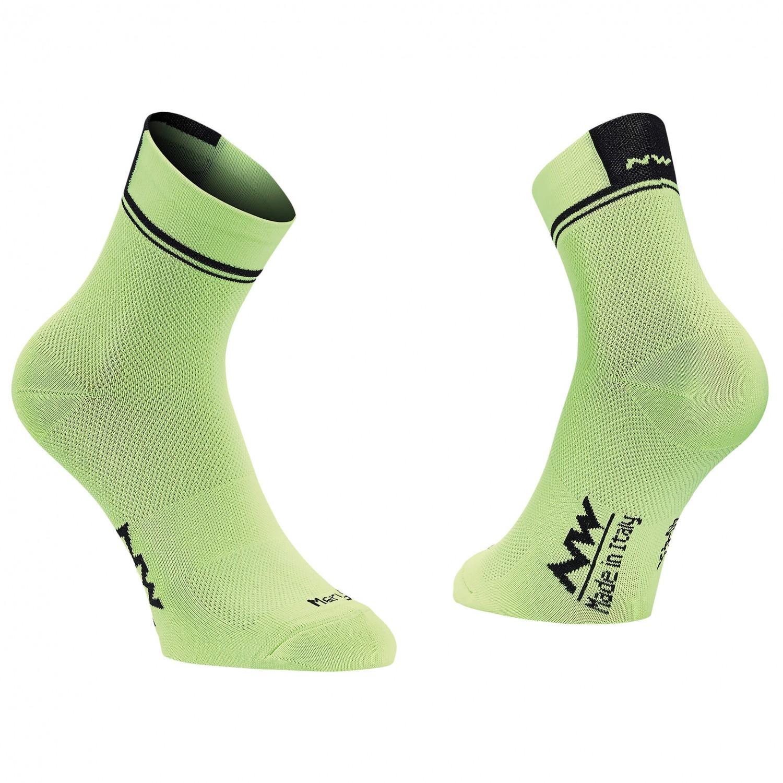 Northwave - Logo 2 Socks - Radsocken Lime Fluo / Black