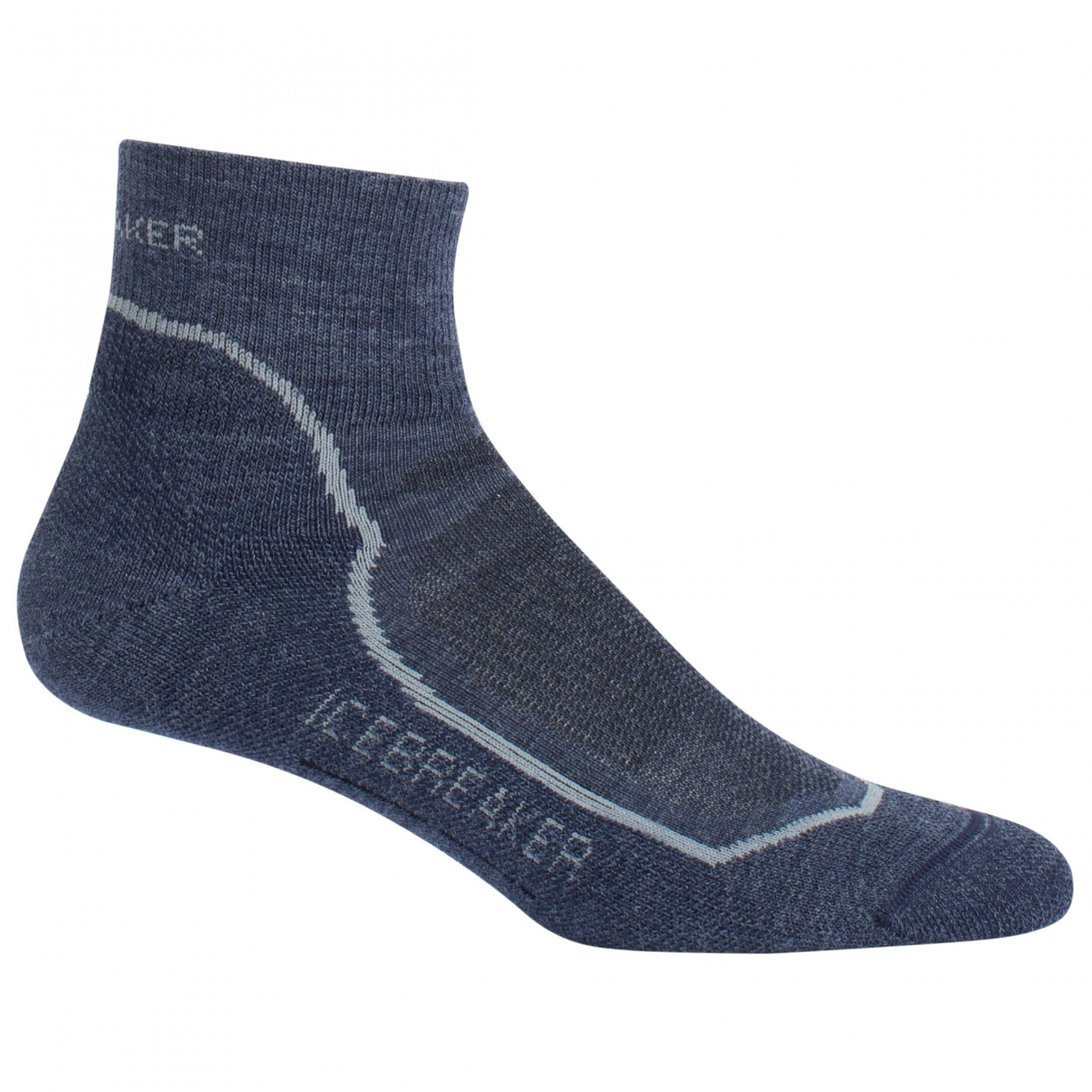 Icebreaker - Hike+ Light Mini - Wandersocken Fathom Heather / Twister Heather / Midnight Navy