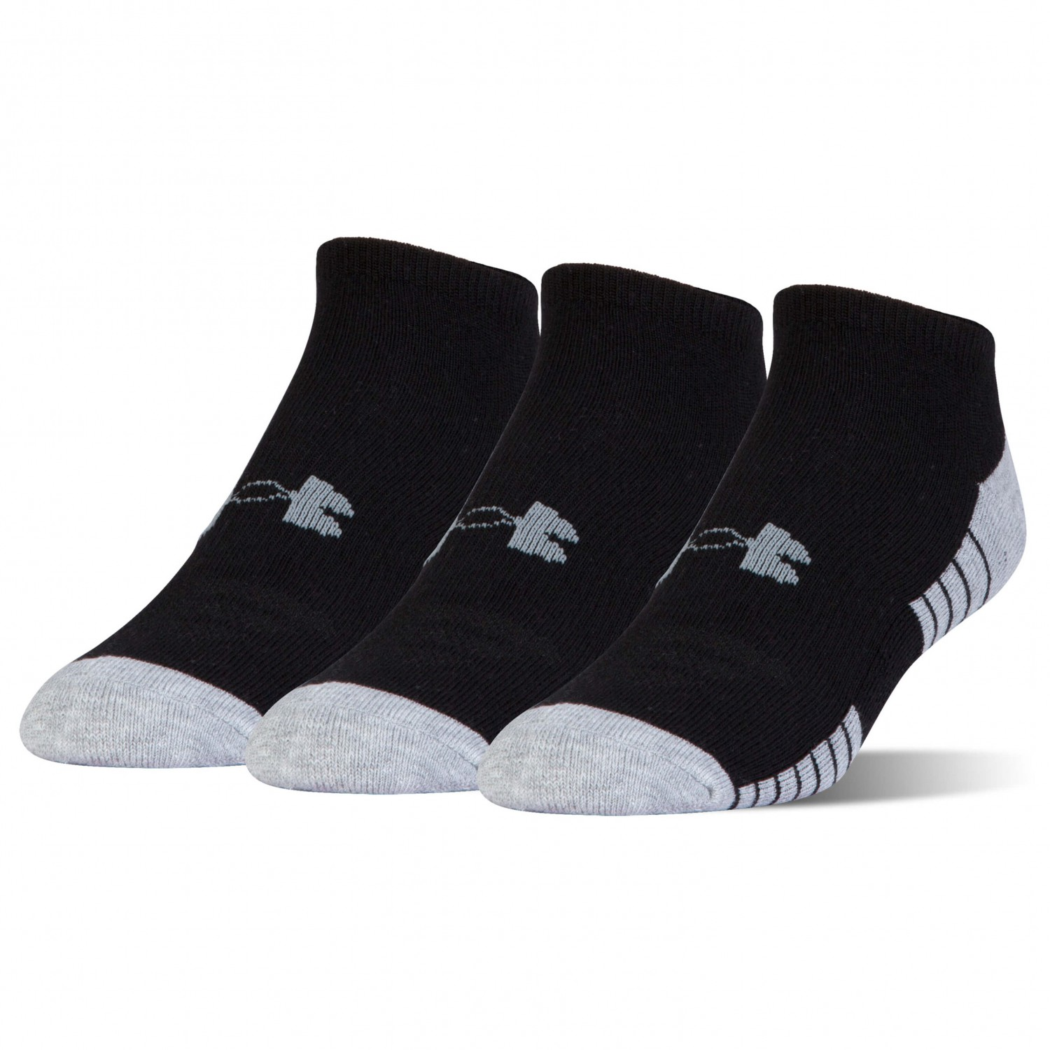 Under Armour - Heatgear Tech Noshow 3 Pack Black / Graphite