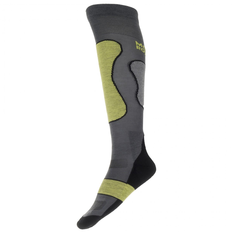 Mons Royale - Pro Lite Tech Sock - Multifunktionssocken Graue / Schwarz / Limone