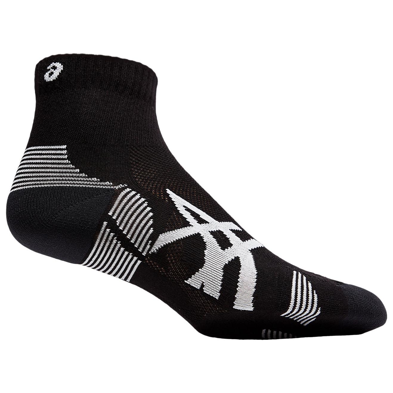 Asics - 2PPK Cushioning Sock - Running socks - Performance Black / Brilliant White   I (US)