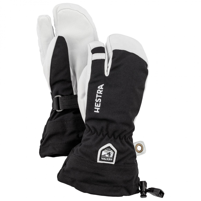 Hestra Army Leather Heli Ski 3 Finger Gloves Kids Free Eu