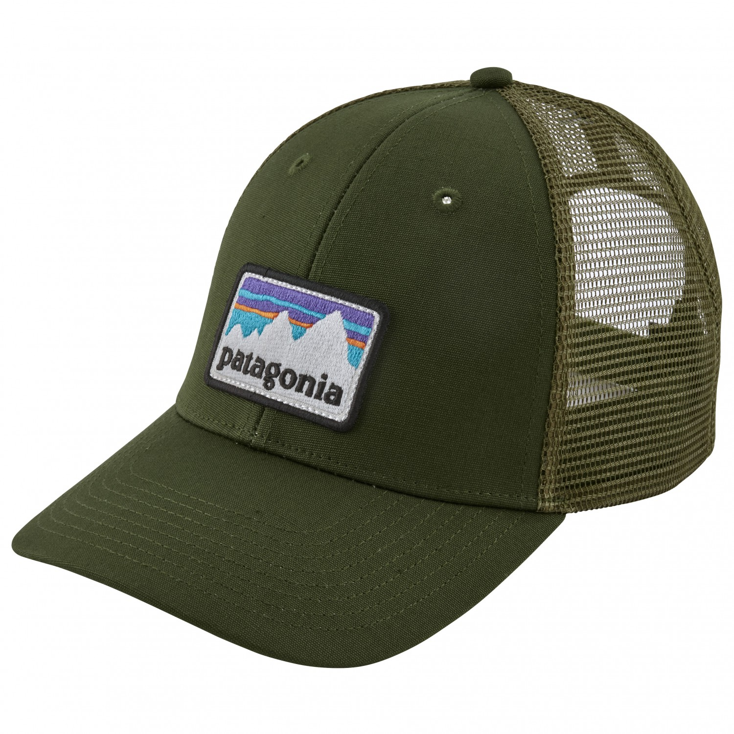 Patagonia Shop Sticker Patch Lopro Trucker Hat Cap