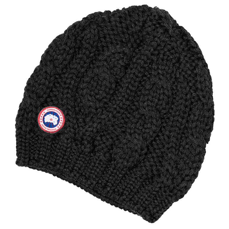 canada goose ladies chunky cable knit beanie m tze damen. Black Bedroom Furniture Sets. Home Design Ideas