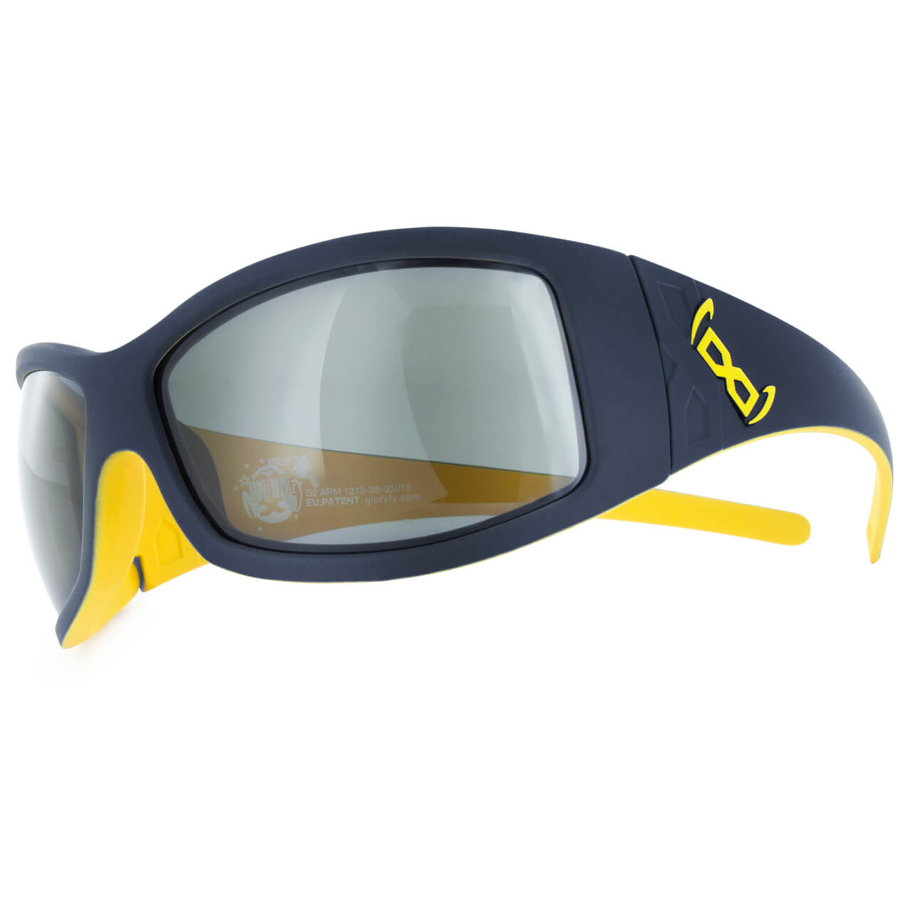 Gloryfy G2 armstrong Sonnenbrille dark navy/yellow 6lYzQkER4