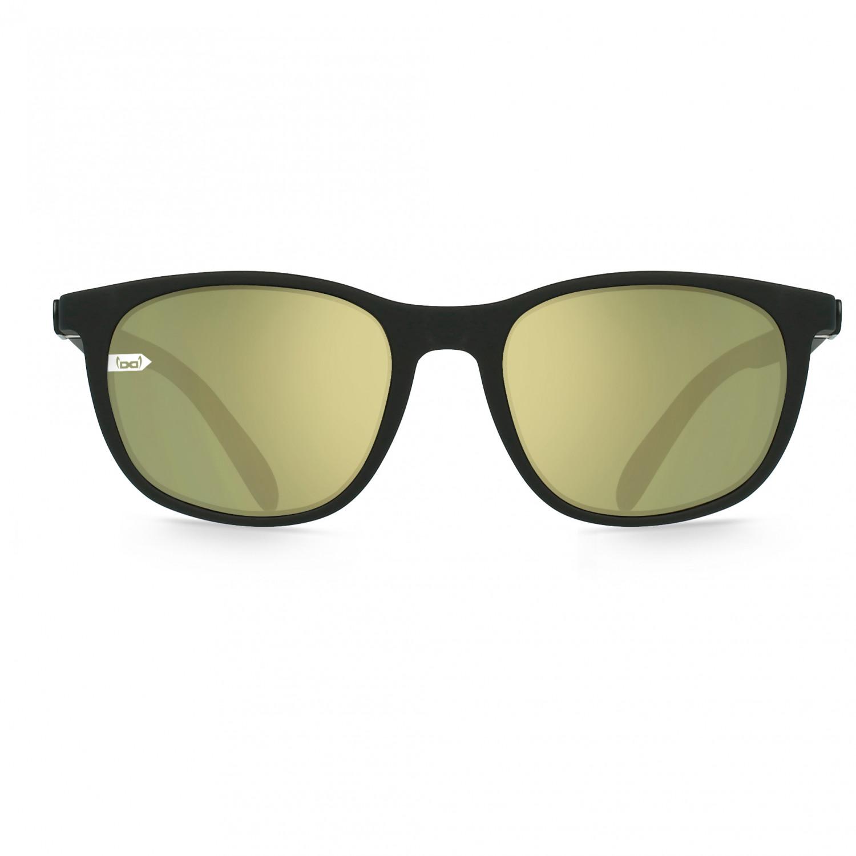 Gloryfy Gi28 Eyelove Sun S2 Sonnenbrille Black | M NBFX Twilight Olive Gold Mirror S2