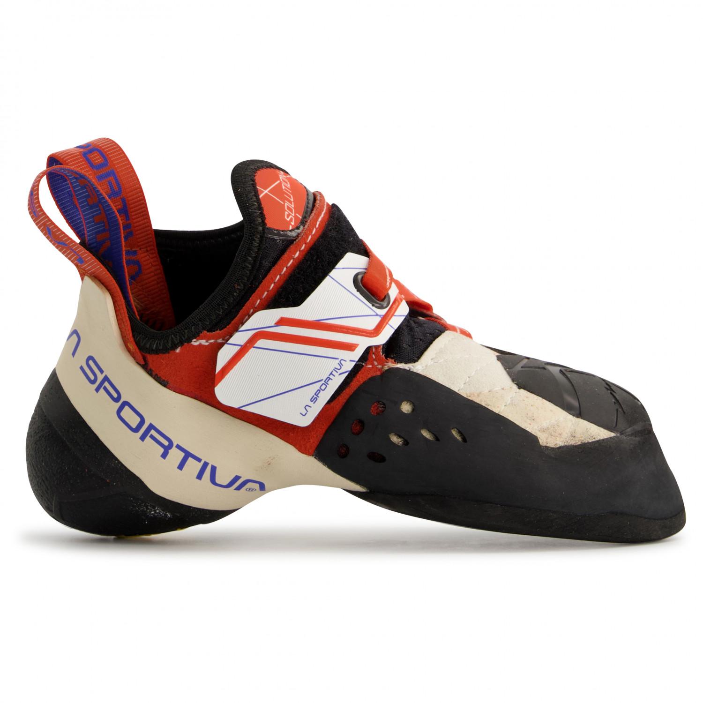 La Sportiva Solution Women white//lily orange Damen Kletterschuh weiß orange