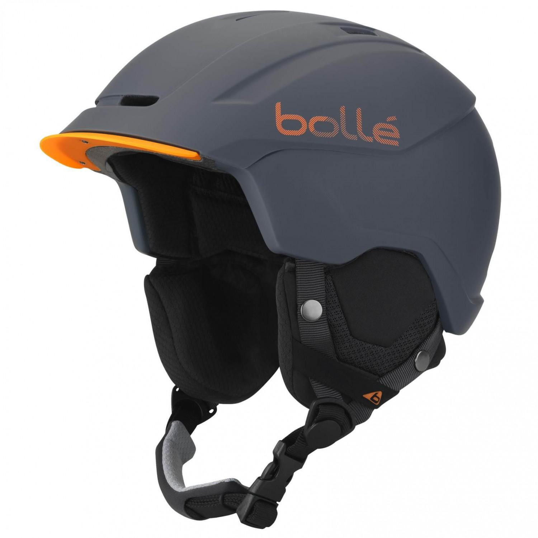 Ski Helmet Sale >> Bolle Instinct Ski Helmet Soft Grey Orange 51 54 Cm