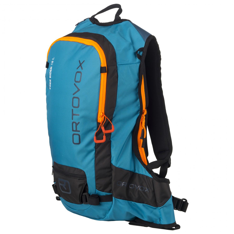 code promo bd75a 94738 Ortovox - Free Rider 18 L - Sac à dos ski - Blue Sea   18 l