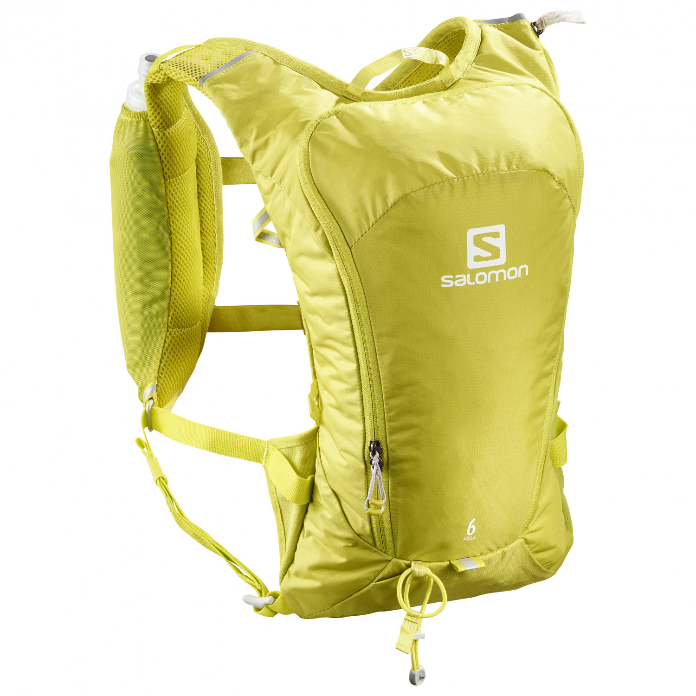 pas mal 959ff 5f87b Salomon - Agile 6 Set - Trail running backpack - Citronelle / Sulphur  Spring | One Size