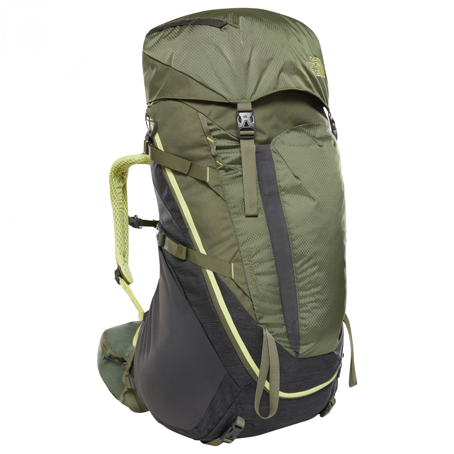 62bab2f6f The North Face - Women's Terra 55 - Walking backpack - TNF Dark Grey  Heather / Four Leaf Clover   55 l - XS/S