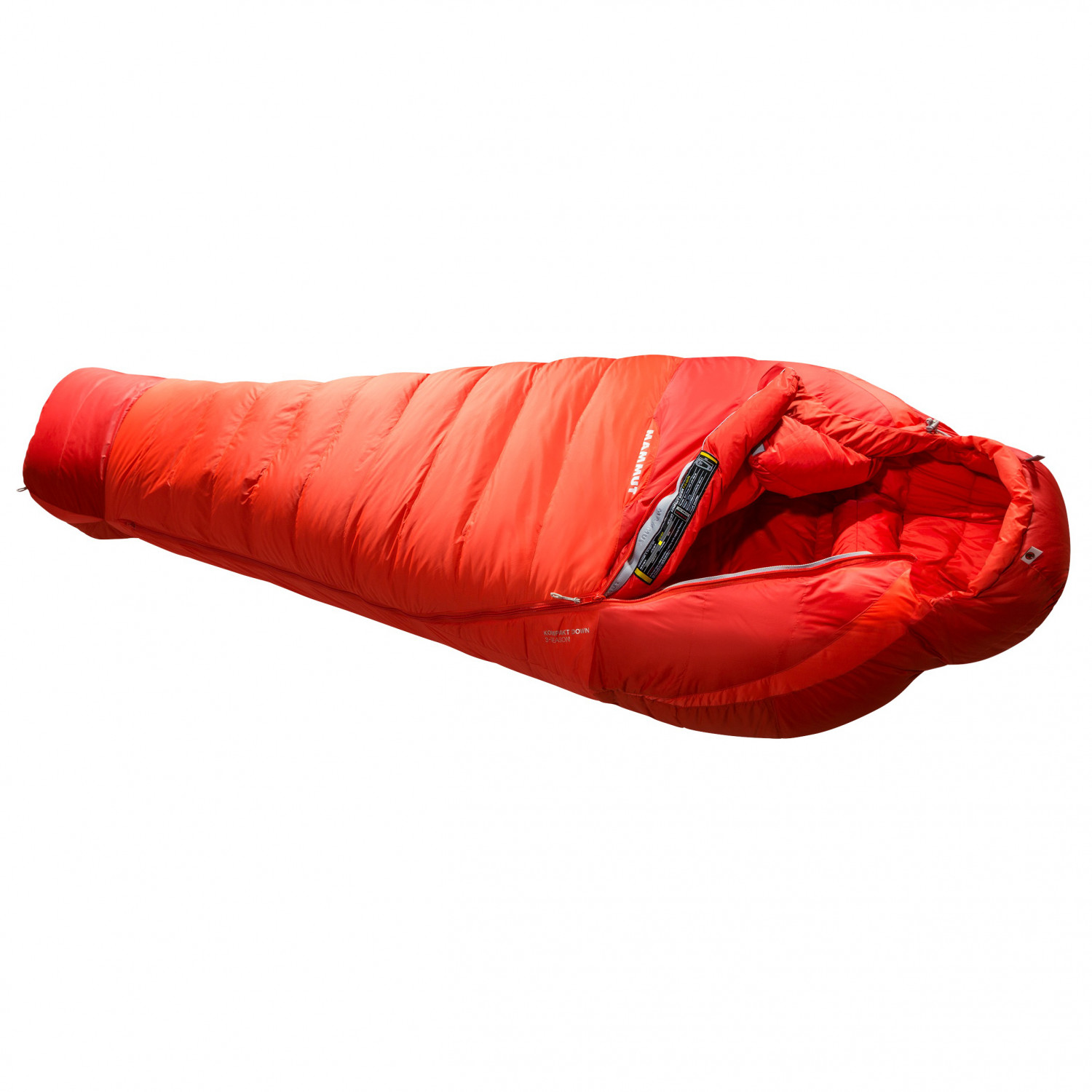 stable quality nice cheap on feet images of Mammut - Kompakt Down 3-Season - Down sleeping bag - Dark Orange / Sinopia  | 180 cm - Regular - Zip: Right