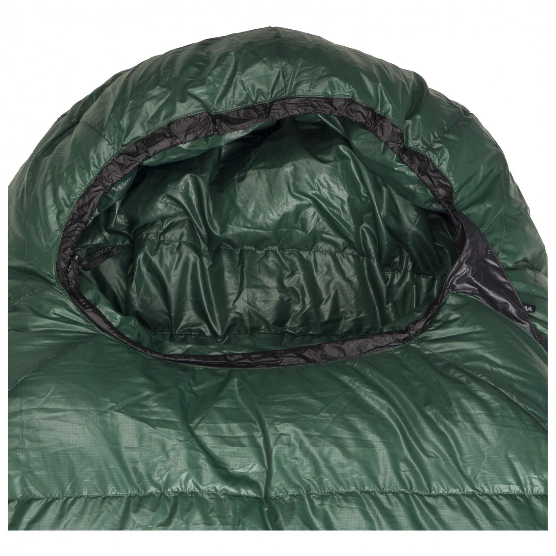 Western Mountaineering Badger Mf Down Sleeping Bag Green Black 180 Cm Zip Left