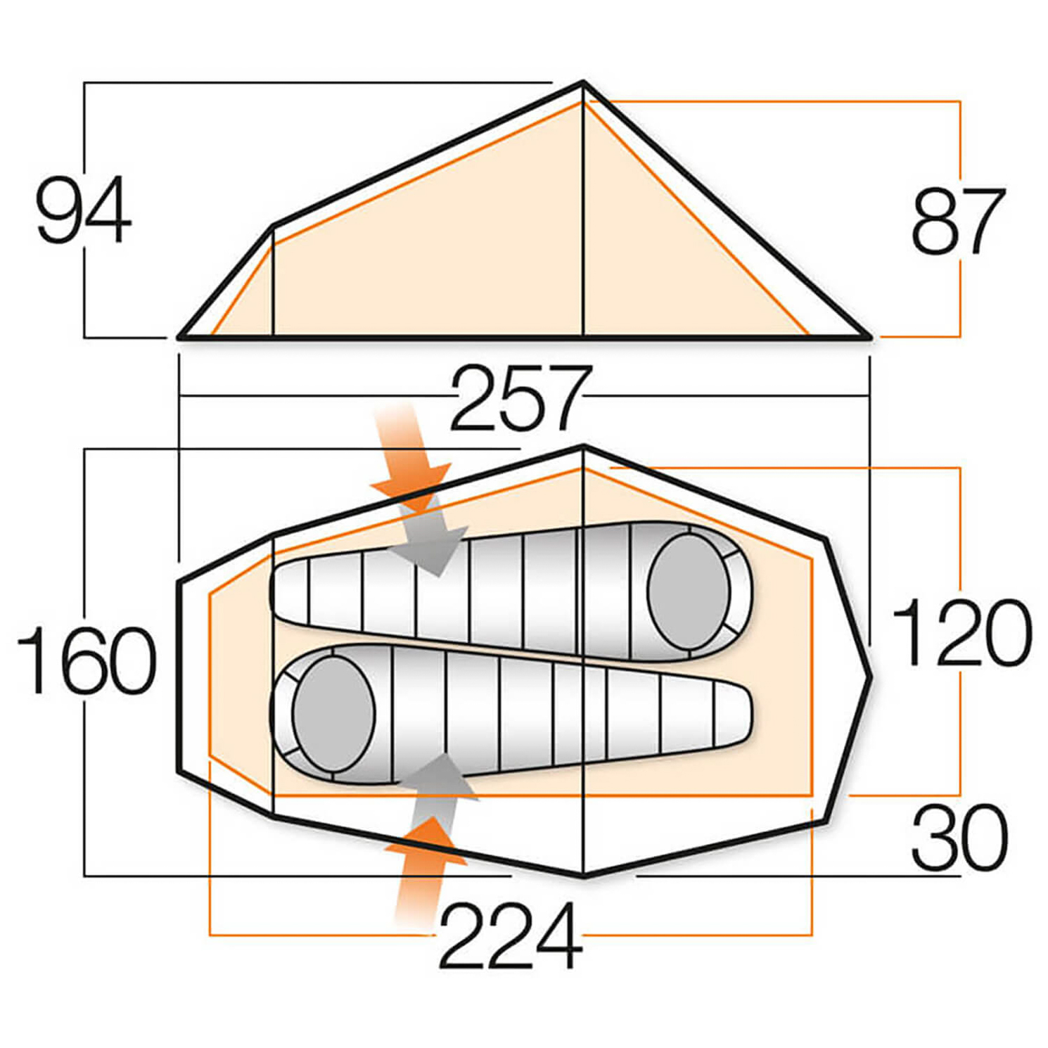 ... Vango - Bora 200 - 2-person tent  sc 1 st  Alpinetrek & Vango Bora 200 - 2-Person Tent | Buy online | Alpinetrek.co.uk