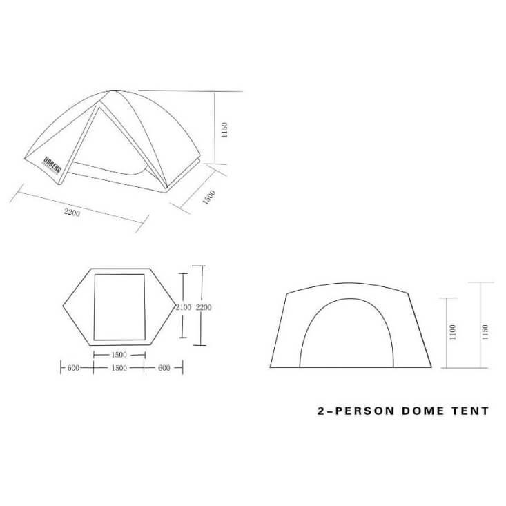 Urberg 2 Person Dome Tent