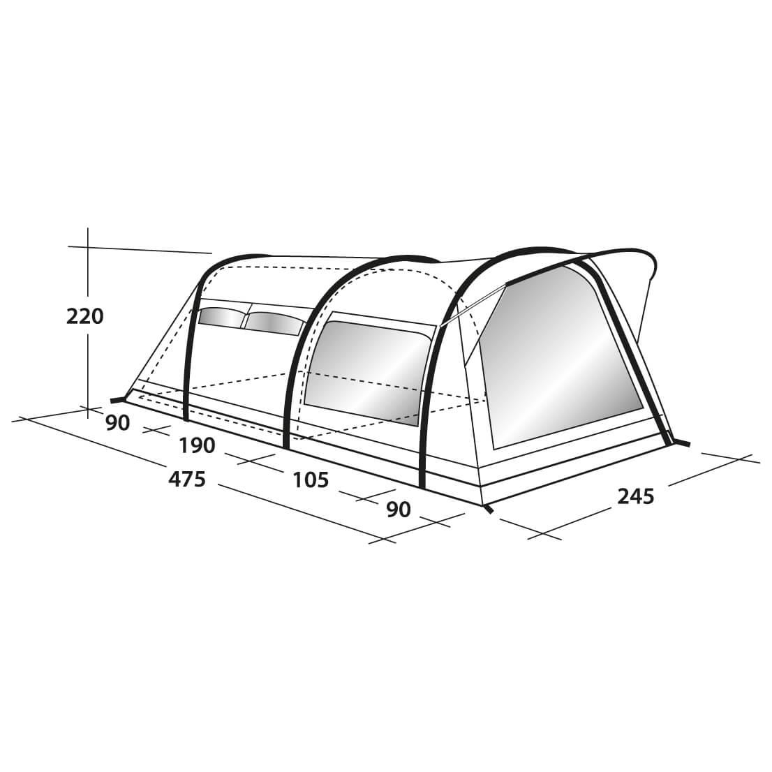 ... Outwell - Huntley 3SATC - 3 man tent ...  sc 1 st  Alpinetrek & Outwell Huntley 3SATC - 3 Man Tent | Free UK Delivery | Alpinetrek ...