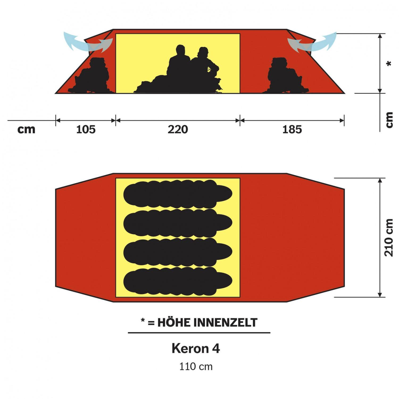 Hilleberg Keron 4 GT 4 mannatält | Handla fraktfritt
