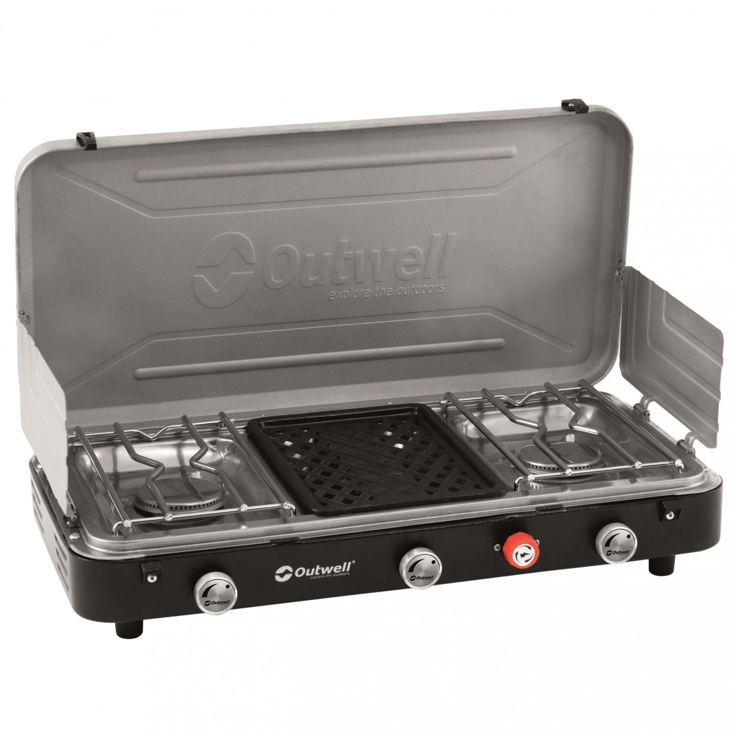 outwell chef cooker koch grillkombi 3 flammig gas stoves. Black Bedroom Furniture Sets. Home Design Ideas