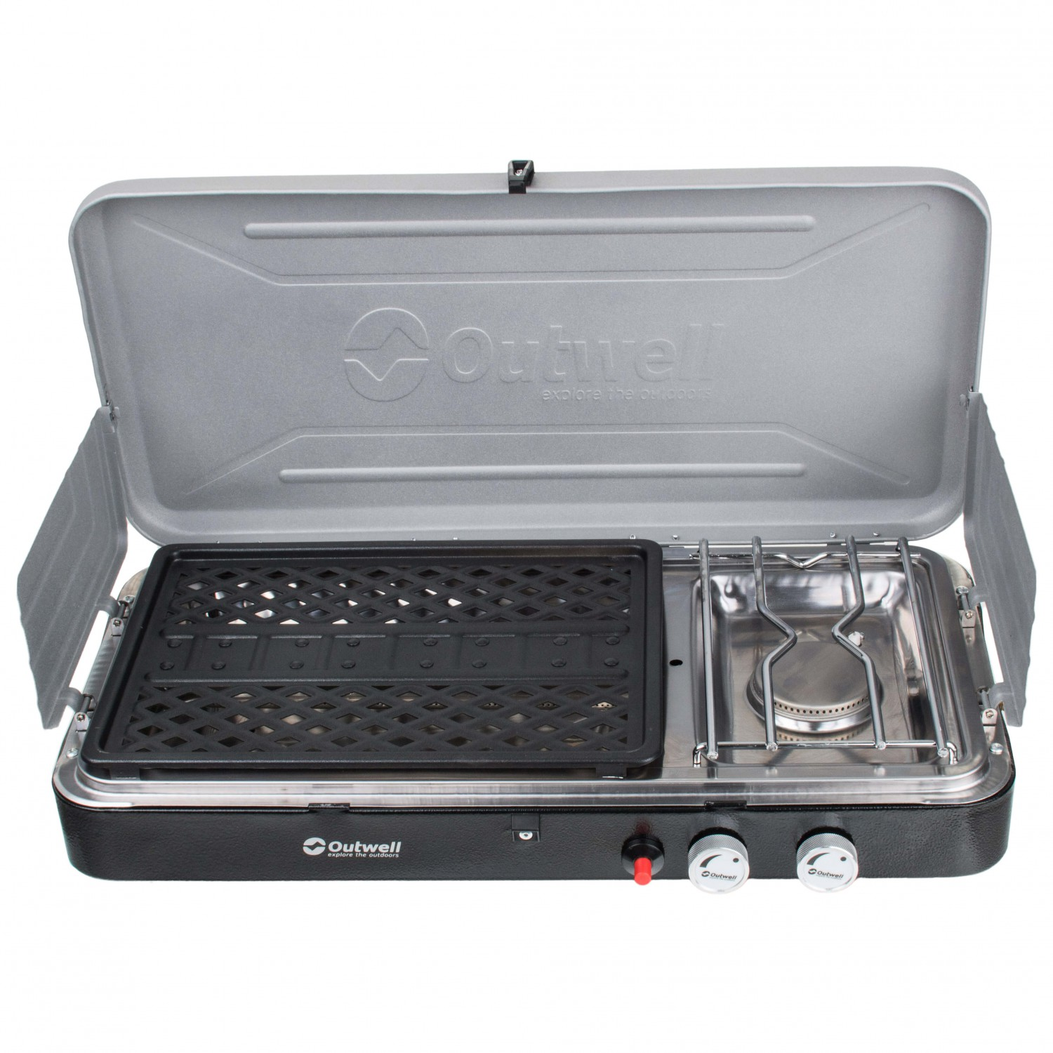 Gas Stove With Grill ~ Outwell chef cooker burner stove with grill gas stoves