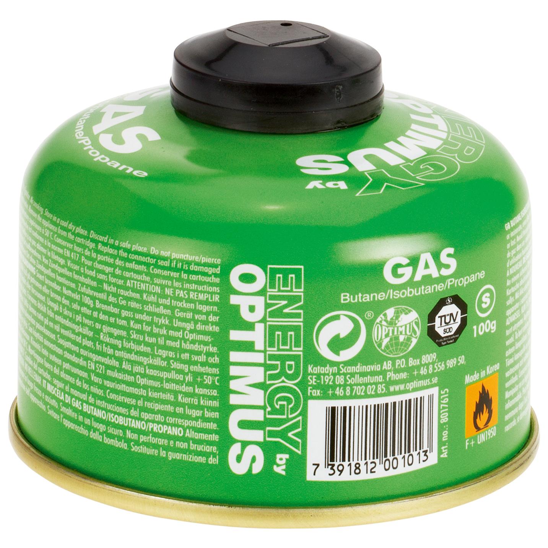 Optimus - Gas Butan/Isobutan/Propan - Gas canister - Green   100 g