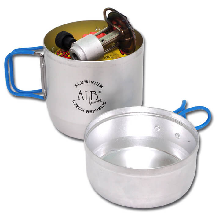 Alb forming one person cooking set aluminium buy online for Cuisine aluminium