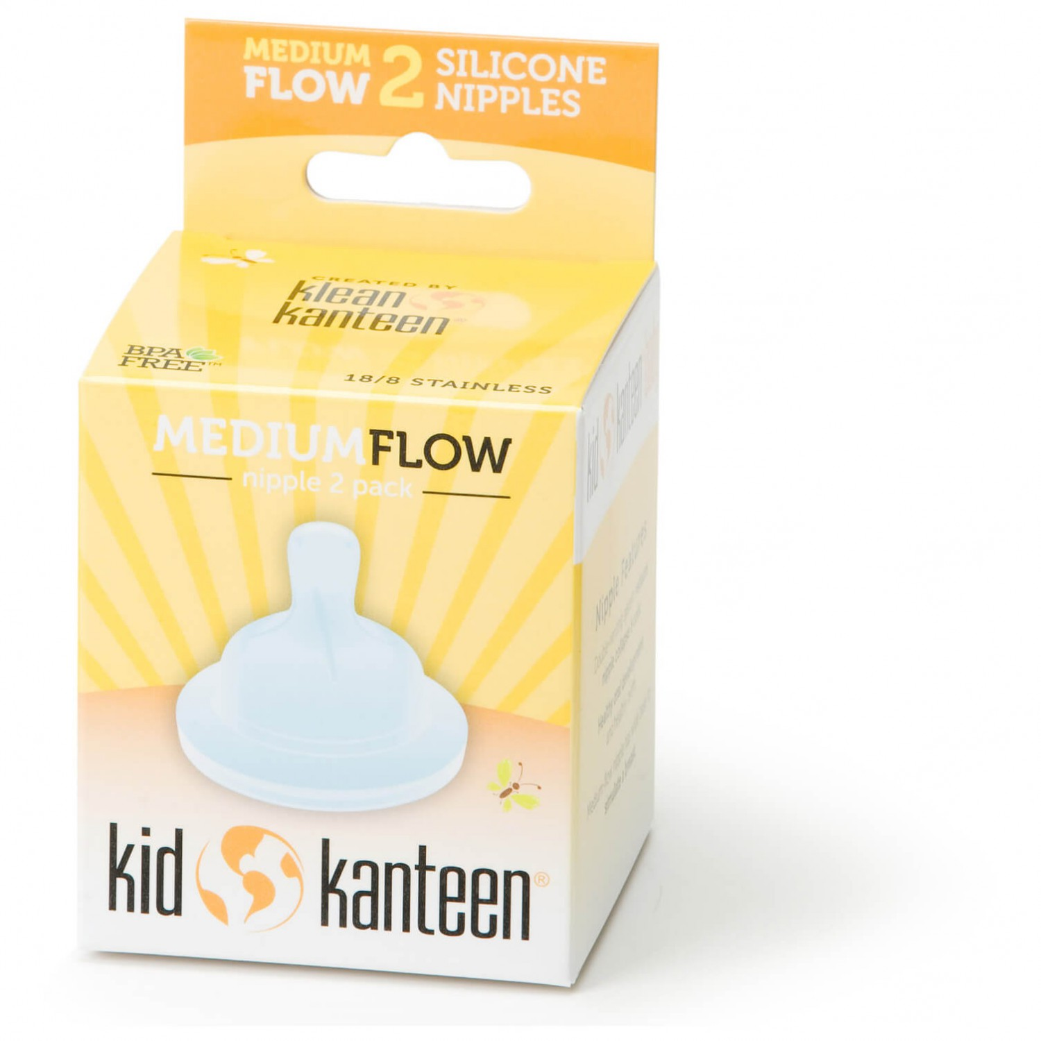 KLEAN KANTEEN BABY SILICONE NIPPLES CLEAR