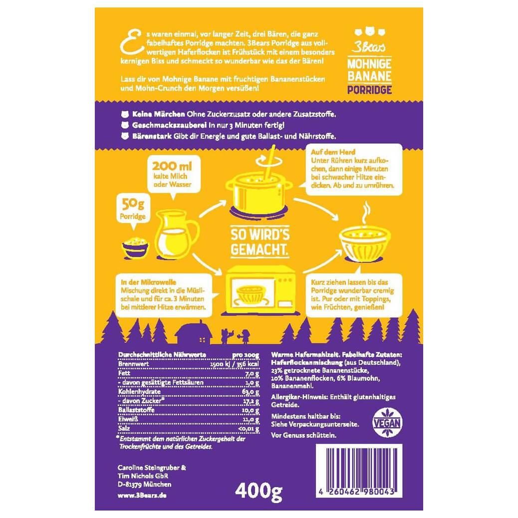 3bears Mohnige Banane Porridge Buy Online Bergfreunde Eu
