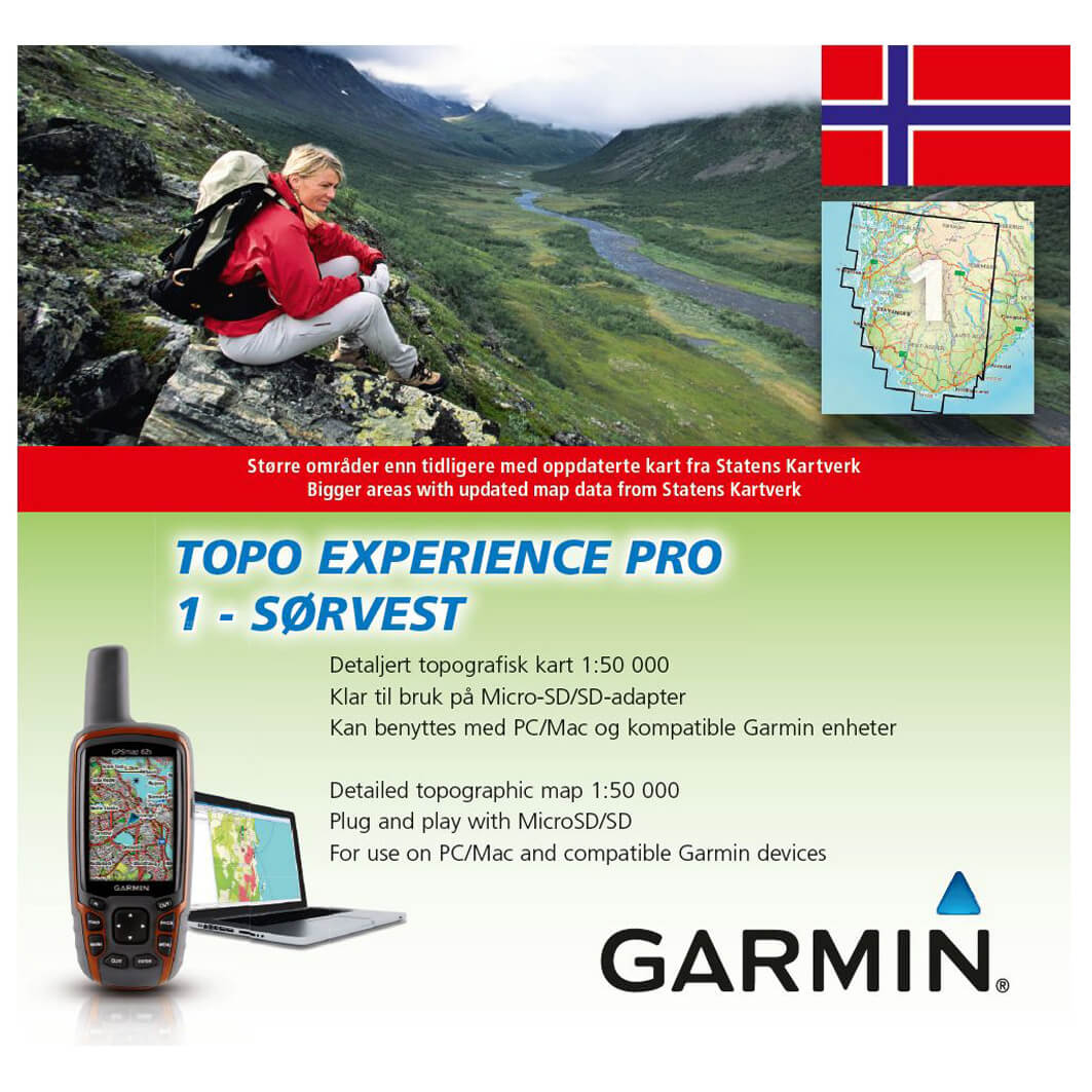 Garmin Topo Experience Pro Norwegen Free Eu Delivery