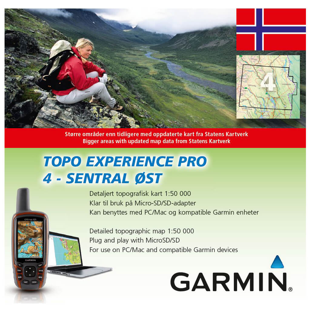 topo kart til garmin Garmin Topo Experience Pro Norwegen | Free EU Delivery  topo kart til garmin