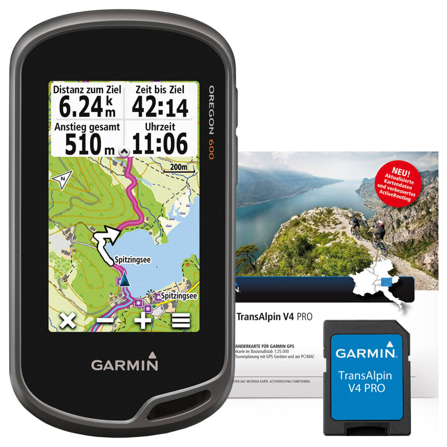 garmin oregon 600 transalpin v4 pro bundle gps ger t. Black Bedroom Furniture Sets. Home Design Ideas