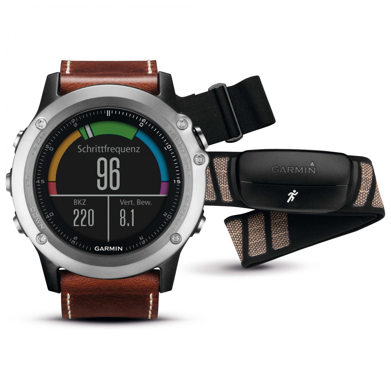 Garmin Fenix 3 Saphir Performer Bundle Silber Multi Function Watch