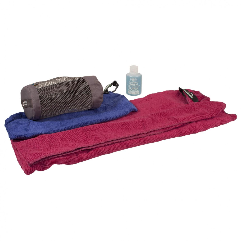 Microfiber Towel Kit: Sea To Summit Tek Towel Wash Kit - Microfiber Towel