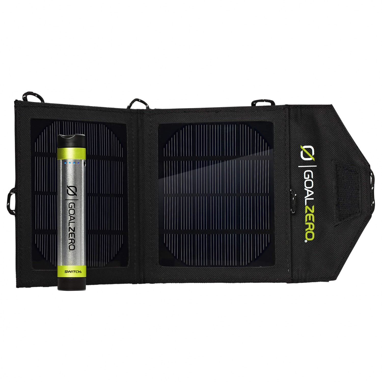 Pannello Solare Goal Zero : Goal zero switch solar recharging kit livraison