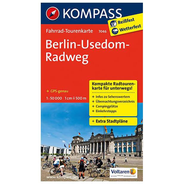 Radweg Berlin Usedom Karte.Kompass Berlin Usedom Radweg Cycling Map