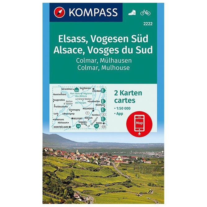 Elsass Karte Colmar.Kompass Elsass Vogesen Süd Alsace Vosges Du Sud Colmar