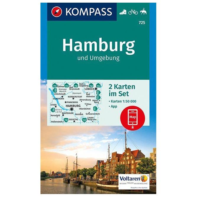 Kompass Hamburg Und Umgebung Hiking Map Buy Online