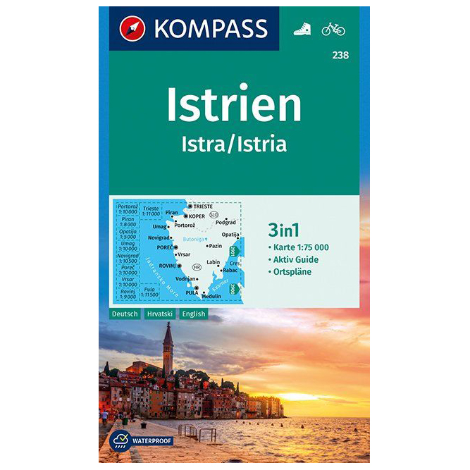 Karte Istrien Rabac.Kompass Istrien Istra Istria Hiking Map Karte Gefaltet