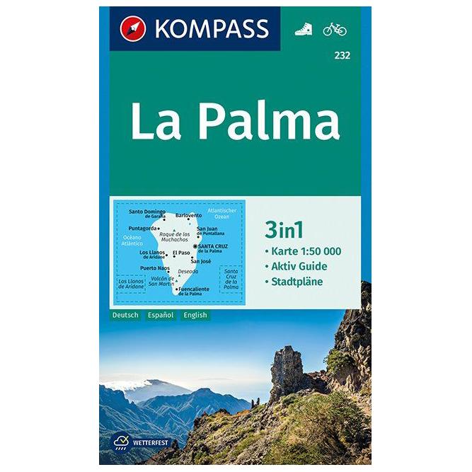 Karte Uk.Kompass La Palma Karte Hiking Map Karte Gefaltet