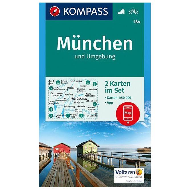 Kompass München und Umgebung Wanderkarte Karte Gefaltet Geklebt