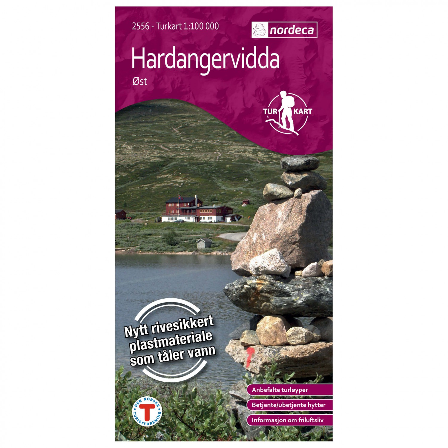 Nordeca Wander Outdoorkarte Hardangervidda Ost 1 100 Hiking Map