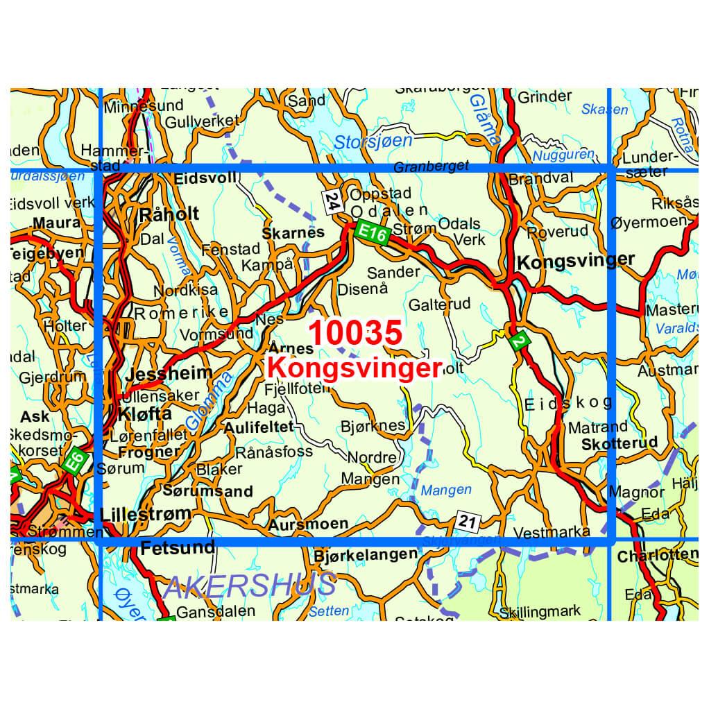 Nordeca WanderOutdoorkarte Kongsvinger 150 Buy online