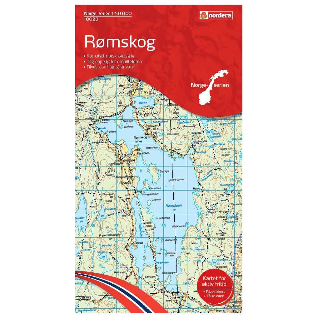 Nordeca Wander Outdoorkarte Romskog 1 50 Hiking Map Buy