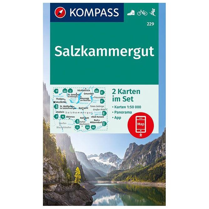 Salzkammergut Karte.Kompass Salzkammergut Karte Wanderkarte Online Kaufen
