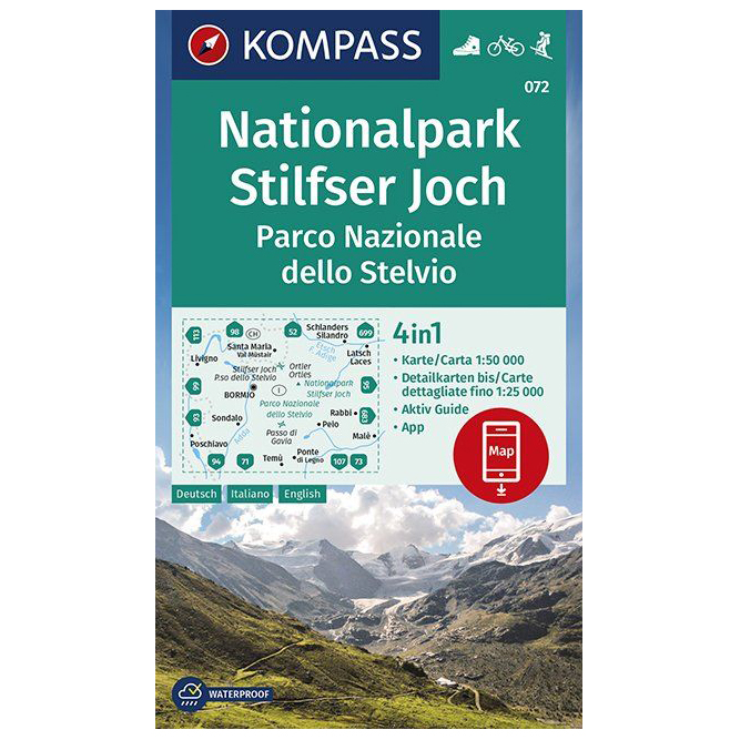 Kompass Wanderkarte Nationalpark Stilfserjoch Hiking Map Buy