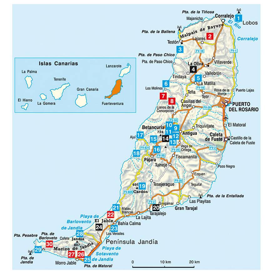 Bergverlag Rother Fuerteventura Walking Guide Books Buy online