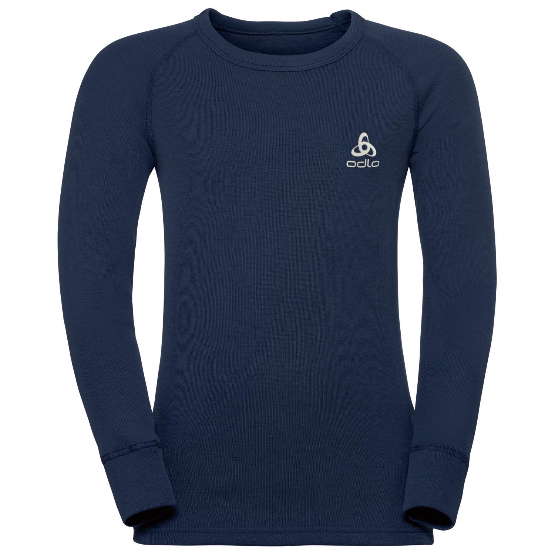 hot sale online ad7a7 4cce8 Odlo - Kid's Shirt L/S Crew Neck Warm - Longsleeve - Black | 92 (EU)