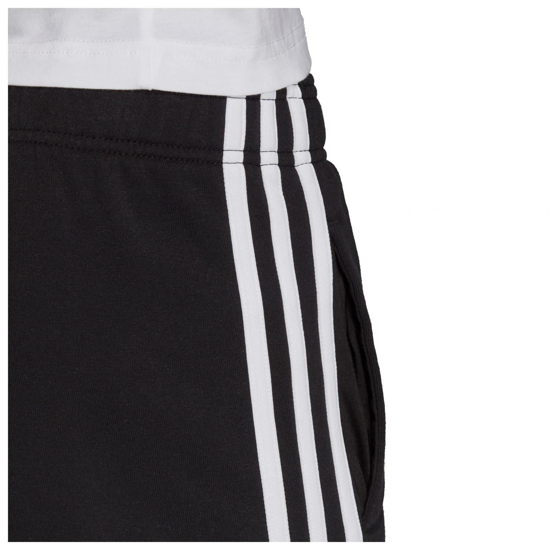 adidas Kid's Essentials 3 Streifen Knitted Shorts Trainingshose Black White | 128 (EU)