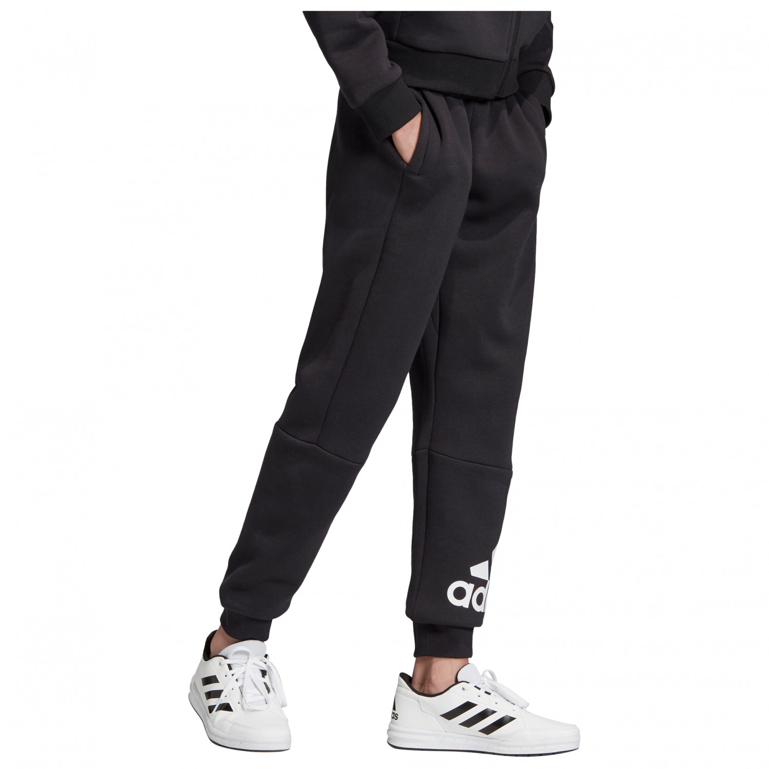 adidas Kid's Must Haves Badge Of Sport Pants Fleece Trainingshose Black White | 140 (EU)